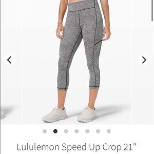 RARE Lululemon Seawheeze Speed Up Crop